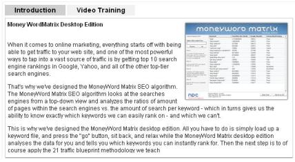 NPC Money Word Matrix