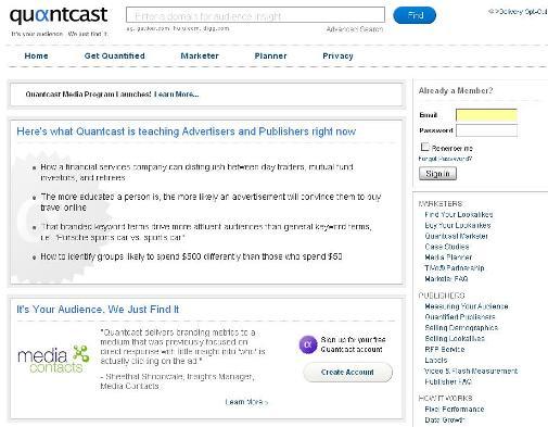 niche marketing in quantcast