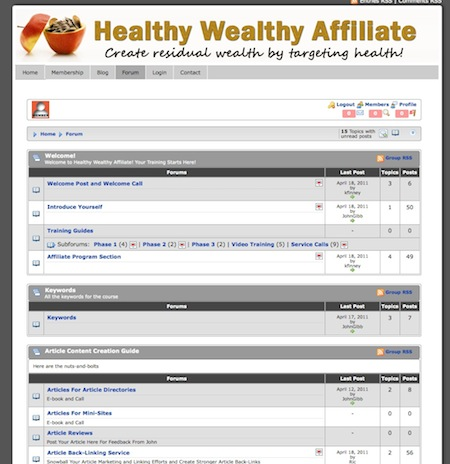 health affiliate products
